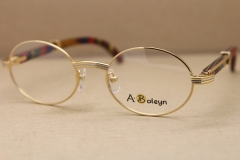 gold wood glasses frames eyeglasses frame men round Metal 2822546 Glasses