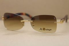 Decor Wood frame men luxury brand T8100864 Sunglasses gold wood glasses frames