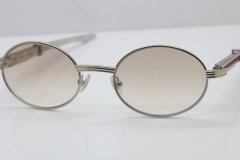 Cartier 7550178 luxury brand 18K Gold sunglasses Vintage Sun Glasses Original Stainless Steel Red Smaller/Big Stones Sunglasses in Gold Brown Lens