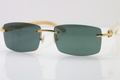 Hot Cartier CT 8200757 Rimless Original White Genuine Natural  Sunglasses Size:56