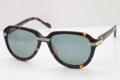 Cartier 1991 Vintage 1136125 Original Sunglasses In Tortoise Mix Silver Dark Lens