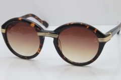 Cartier 1991 Vintage 1125108 Original Sunglasses In Tortoise Mix Gold Brown Lens