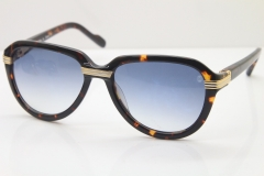 Cartier 1991 Vintage 1136125 Original Sunglasses In Tortoise Mix Gold Gray Lens
