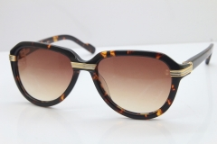 Cartier 1991 Vintage 1136125 Original Sunglasses In Tortoise Mix Gold Brown Lens
