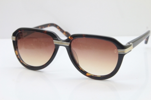 Cartier 1991 Vintage 1136125 Original Sunglasses In Tortoise Mix Silver Brown Lens