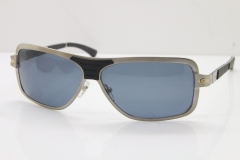 CARTIER T8200703 Original Sunglasses In Silver Dark Lens