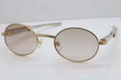 Cartier 7550178 Vintage Original Stainless Steel Sunglasses in Gold Brown Lens Size:53