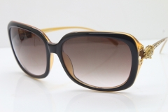 Cartier Leopard 1304 Diamond Sunglasses In Brown Mix Gold Brown Lens