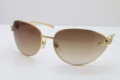 CARTIER Series Limited 1525/2000 Original Sunglasses In Gold Light Brown Lens