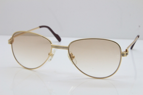 Cartier 1156479 Original Sunglasses In Gold Brown Lens