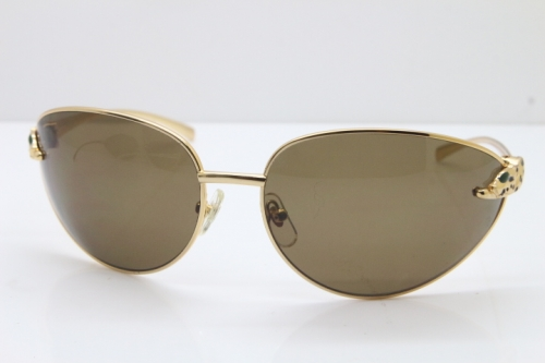 CARTIER Series Limited 1525/2000 Original Sunglasses In Gold Brown Lens