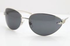 CARTIER Series Limited 1525/2000 Original Sunglasses In Silver Dark Lens