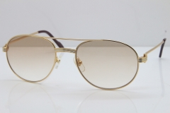 Cartier 1191437 Original Sunglasses In Gold Brown Lens