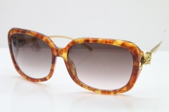Cartier Leopard 1304 Diamond Sunglasses In Brown Toroise Mix Gold Brown Lens