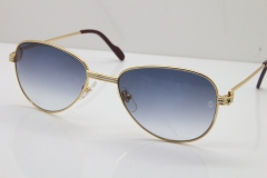Cartier 1156479 Original Sunglasses In Gold Gray Lens