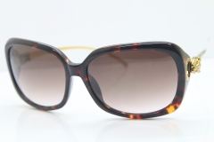 Cartier Leopard 1304 Diamond Sunglasses In Toroise Mix Gold Brown Lens