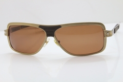 CARTIER T8200703 Sunglasses In Gold Brown Lens