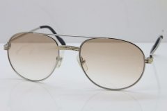 Cartier 1191437 Original Sunglasses In Silver Brown Lens