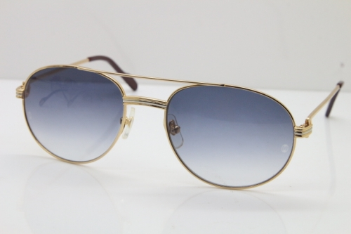 Cartier 1191437 Original Sunglasses In Gold Gray Lens