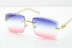 Gold Blue Mix White Pink Lens